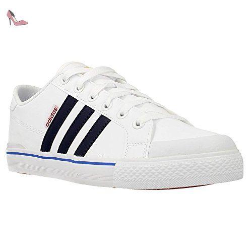 adidas Clementes, Chaussures de Sport Homme, Noir/Blanc (Noir Essentiel/Blanc Footwear/Blanc Footwear), 42 EU