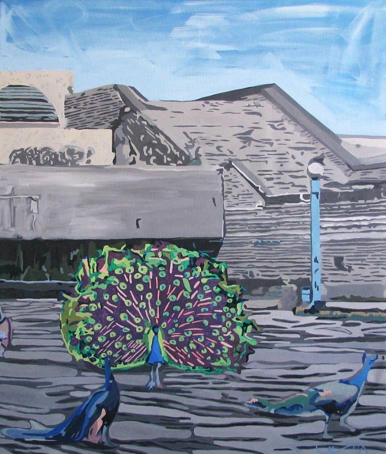 "Saatchi Art Artist Maria Sidljarevich; Painting, ""Peacocks in Tallinn"" #art"