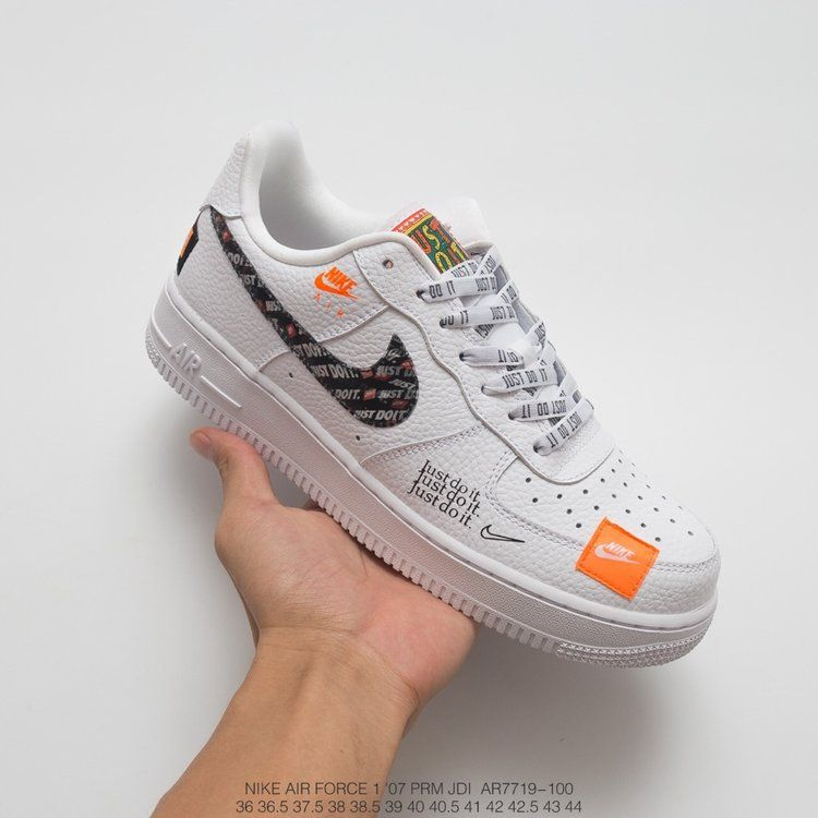best sneakers f2a16 04e93 Nike Air Force 1 07 Premium Just Do It Pack White