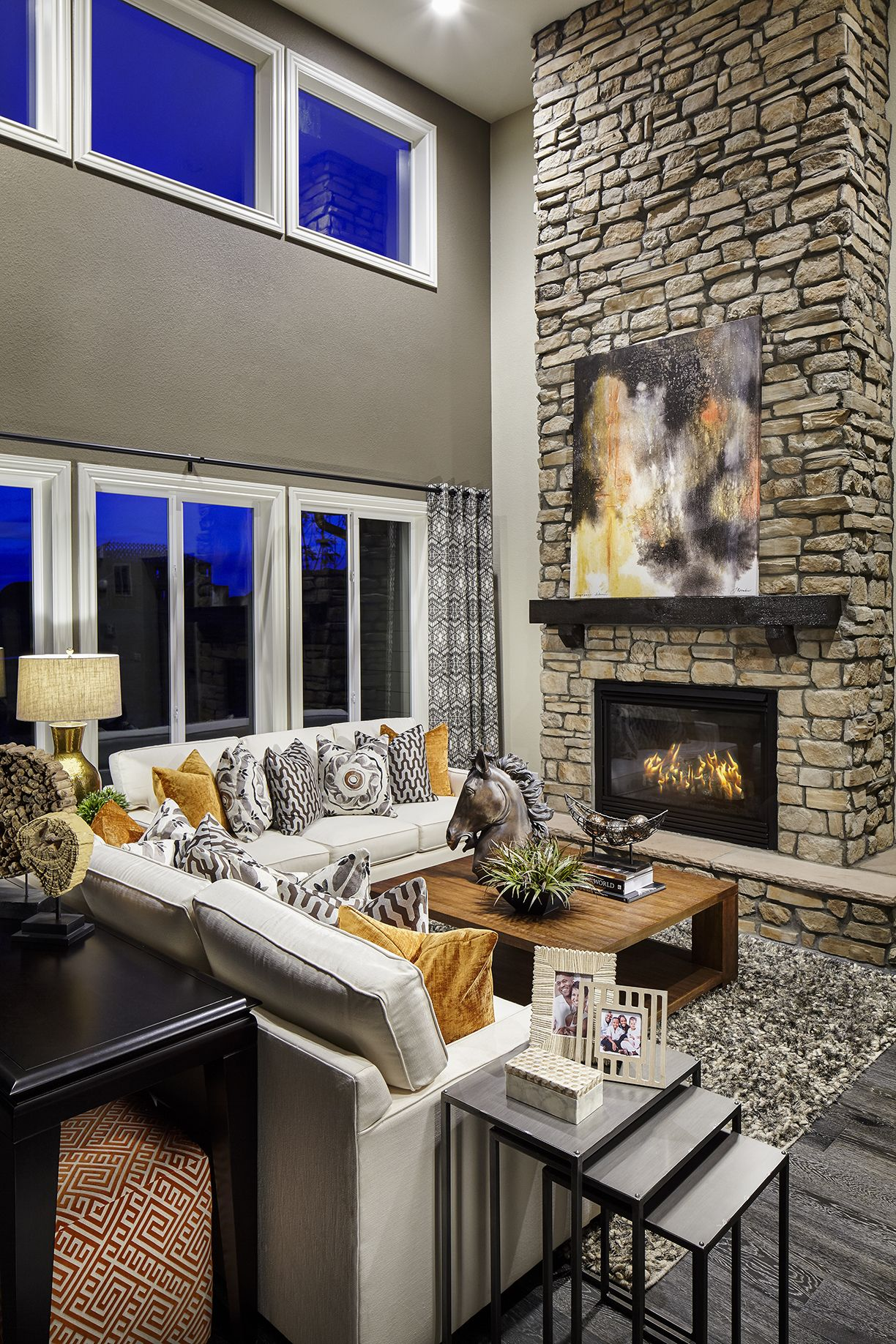 This Gorgeous Living Room Is Just The Beginning Hometour Stone Fireplace Beautiful Livingroom Divi Colorado Style Stacked Stone Fireplaces Floor Plans