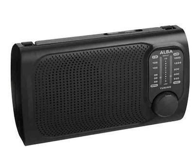 Alba portable am / fm radio black #mains / #battery #powered,  View more on the LINK: 	http://www.zeppy.io/product/gb/2/141974637312/