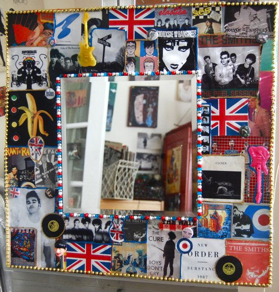 British Invasion Wall Mirror rock and roll art by KitschyRitch, $100.00