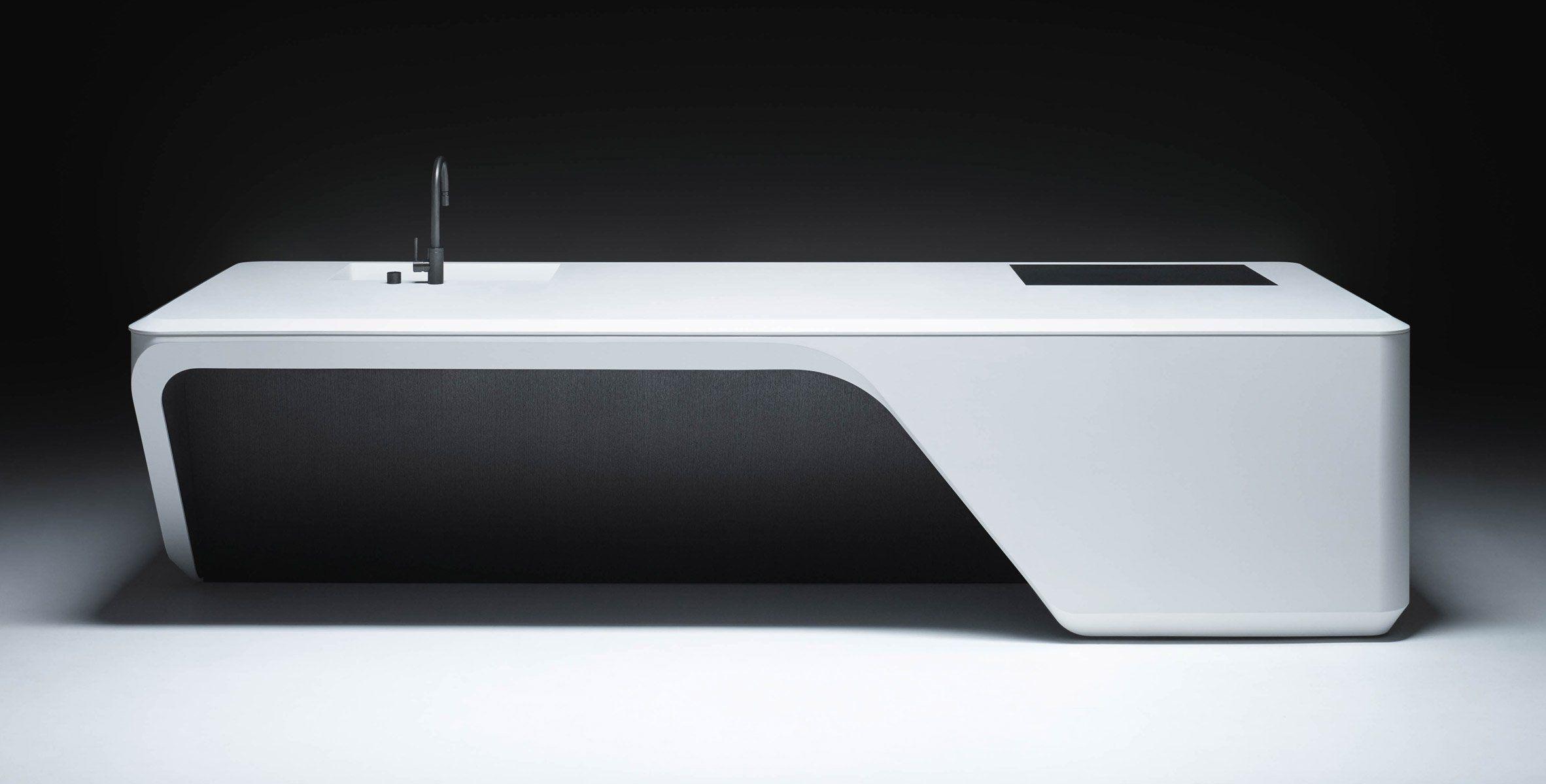 Zaha Hadid Architects Kitchen For New York Condo Building  # Muebles De Zaha Hadid