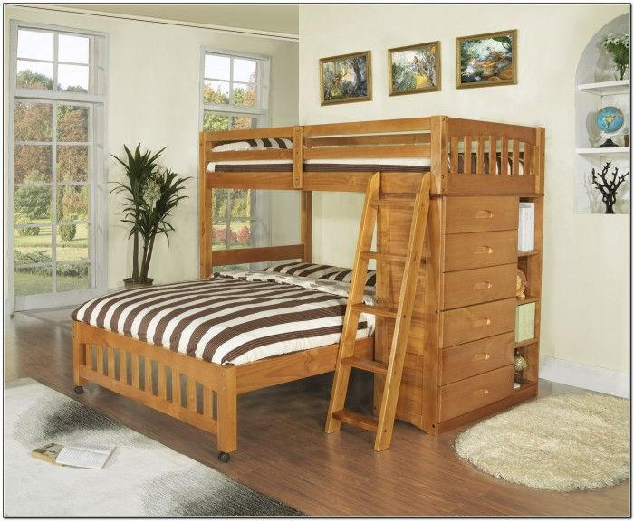Double Bunk Beds Top And Bottom Beds Home Furniture Design