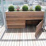 Hochbeet mit Stauraum – Balkon Garten 100,  #Balkon #Garten #Hochbeet #mit #Stau…