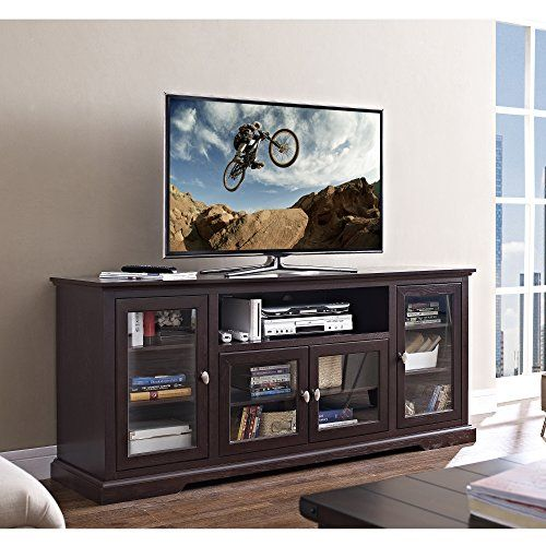 New 70 Inch Wide Highboy Style Wood Tv Stand Espresso Brown Finish Home Accent Furnishings Http Www Dp B013rut3sy Ref