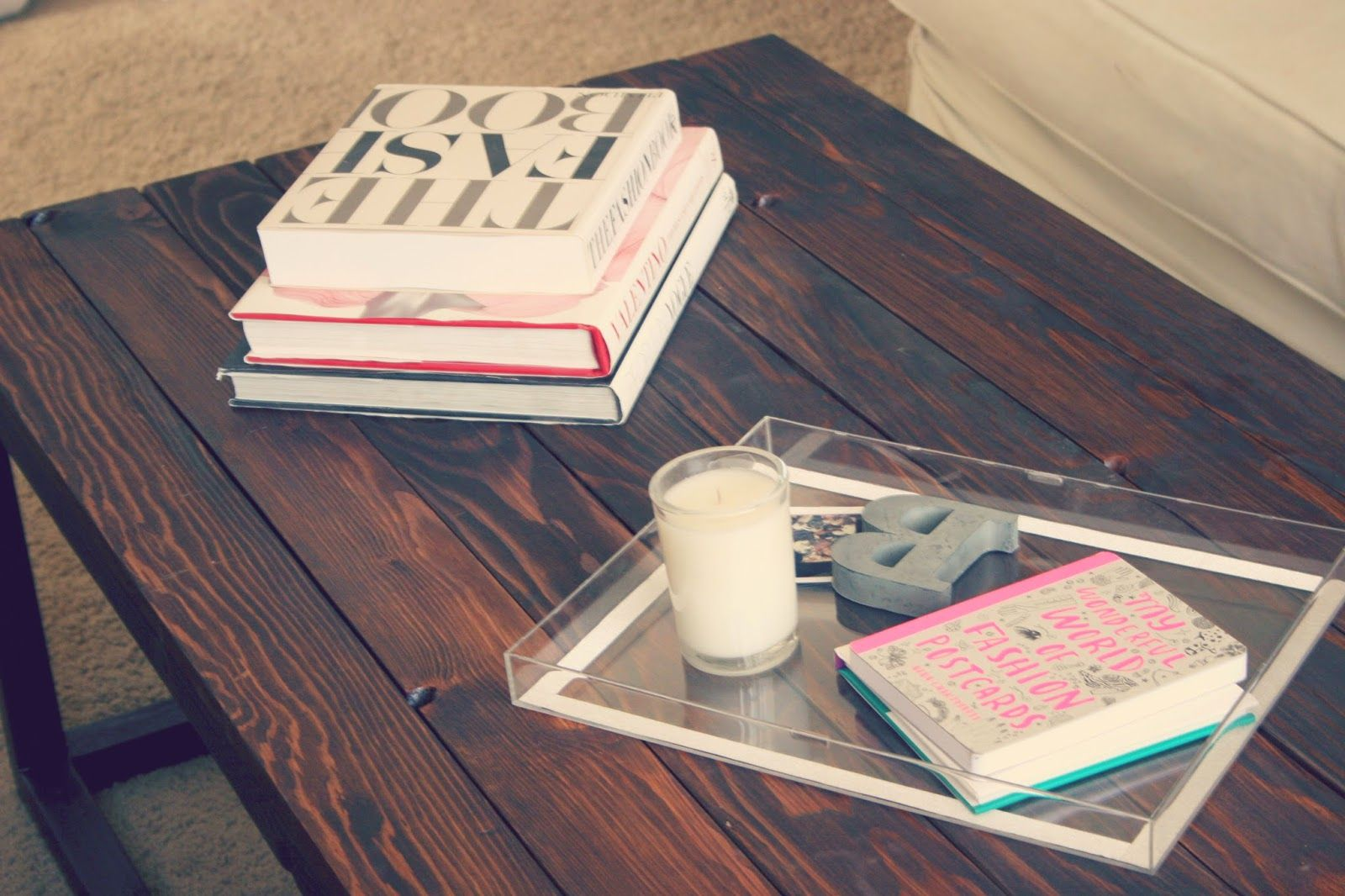 Just a Darling Life: DIY Clear Lucite Tray - West Elm and Anthropologie Hack!