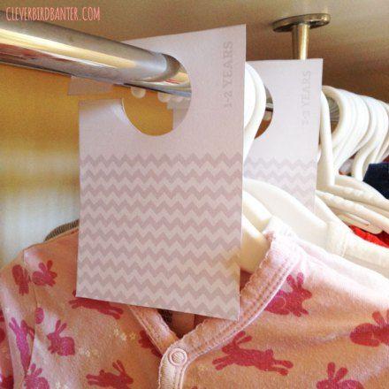 Free Closet Divider Printables Diy Pinterest Closet Dividers Free Printables And Babies Clothes