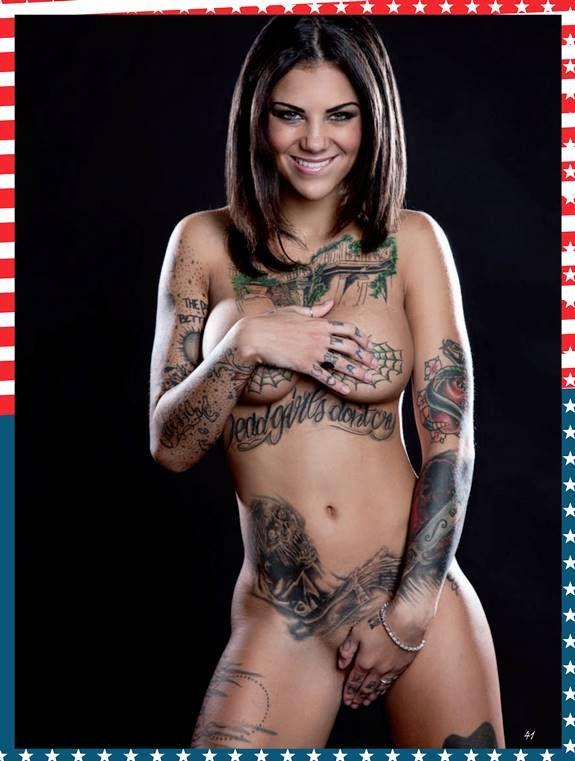 Bonnie Rotten Topless Tattoo Model Primera Linea March