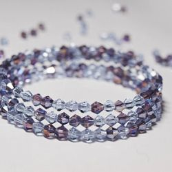 DIY Crystal Bracelet: A tutorial on how to make a beautiful bracelet using memory wire.