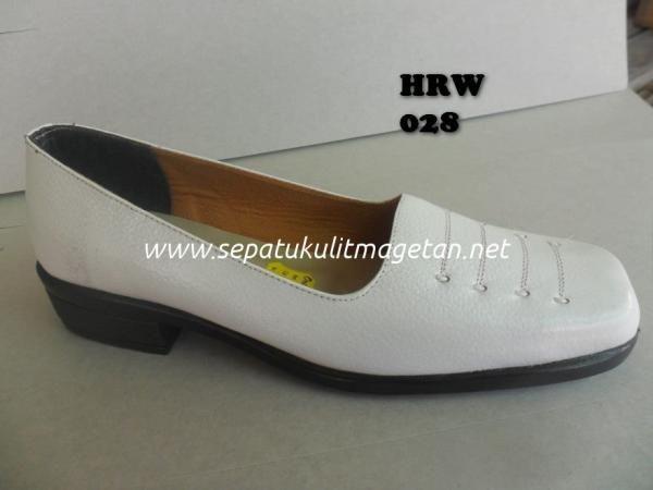 Sepatu Kulit Pantofel Wanita Hrw 028 Shoes Loafers Fashion