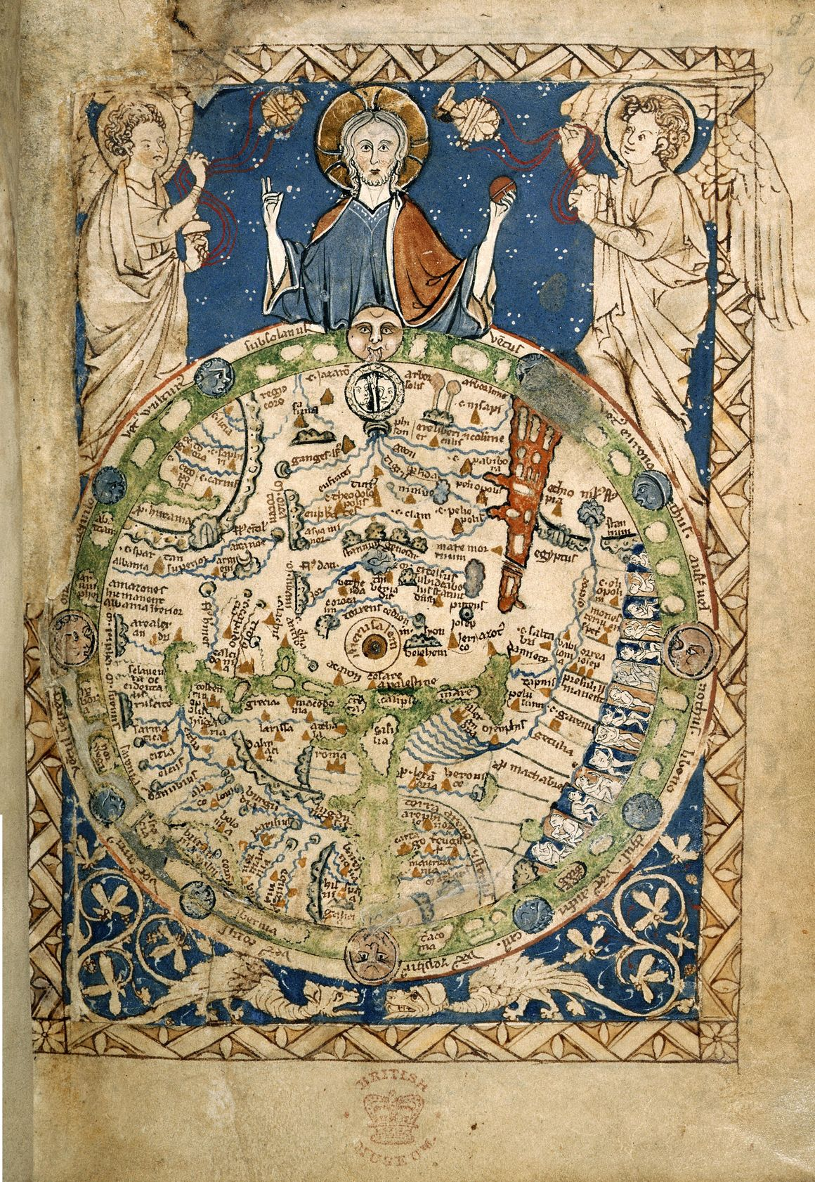 The Psalter World Map, which is from c. 1260