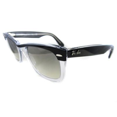 0b780ca7a5 Ray Ban Wayfarer II 2143 Sunglasses 2143 919 32 Black Clear