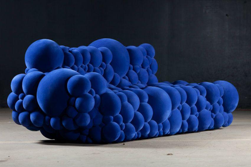 Atemberaubend Möbel Für Modernen Einrichtungsstil | Maarten De Ceulaer  Sofa. Exklusiv Design. Blau Samt