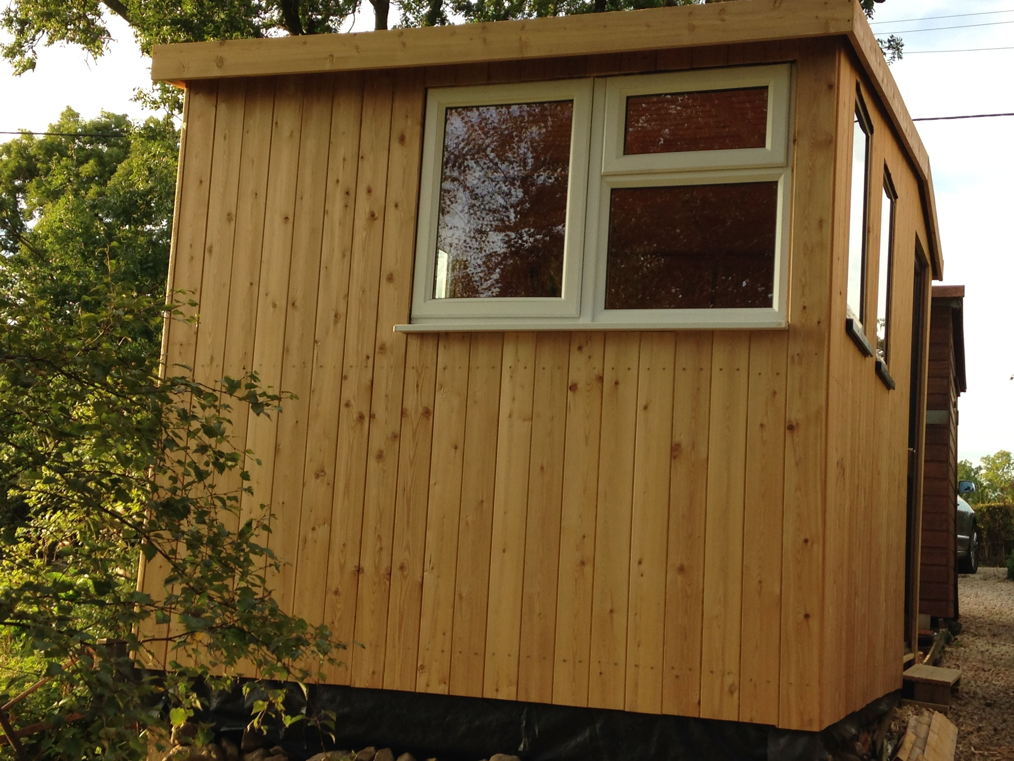 Siberian Larch Tongue & Groove Cladding used on a garden shed ...
