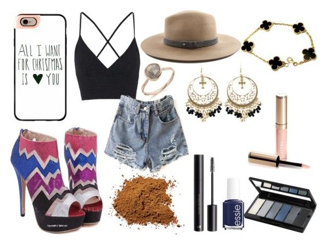 """Season 2"" by minekun on Polyvore featuring moda, Topshop, Essie, rag & bone, Casetify, Van Cleef & Arpels, By Terry, H&M e Isadora"