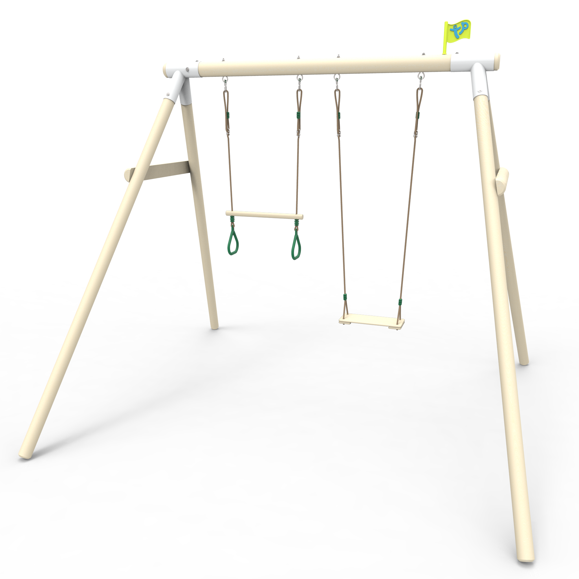 Tp Double Round Wood Swing Set With Wooden The Tp