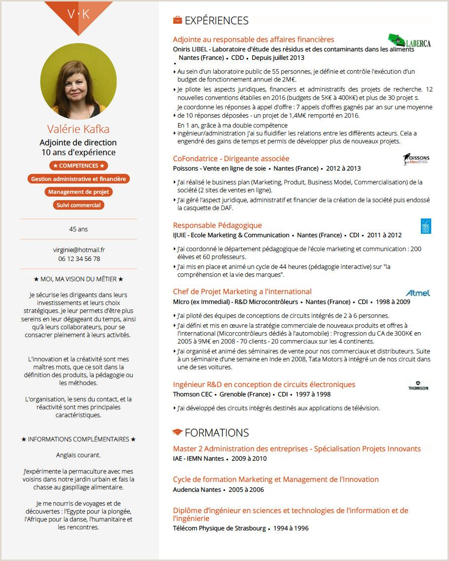 Exemple De Cv Francais Pdf in 2020 Teacher cv template