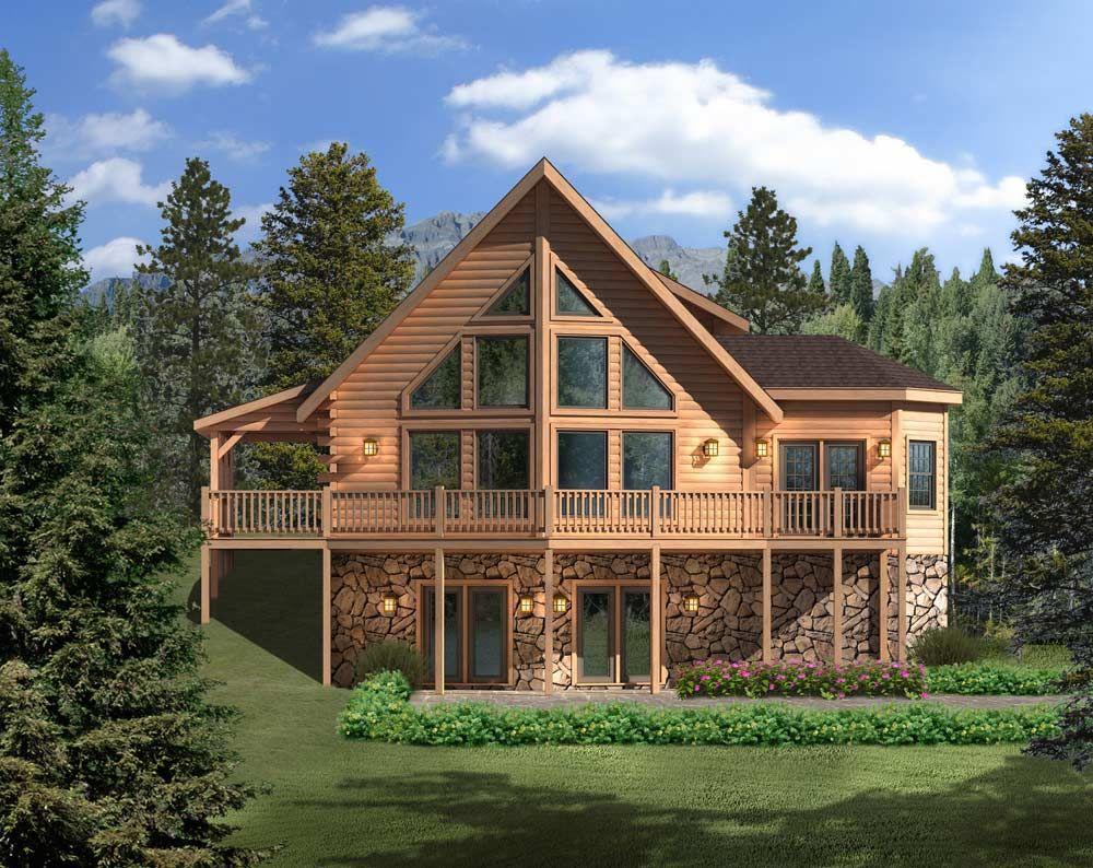 Aspen Hill II Log Home Floor Plan by Timberhaven Log & Timber Homes | Log  home floor plans, Log homes, Log home plans