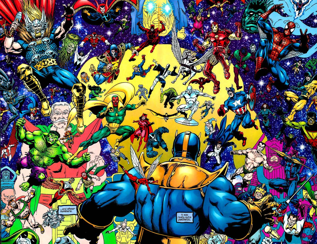 The Marvel Universe Vs Thanos Jim Starlin Thanos Imperative