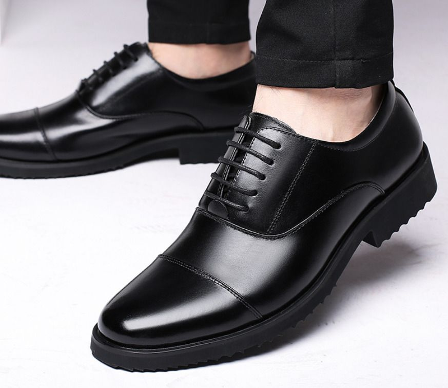 Men/'s Leather Shoes Lace up Oxfords Business Wedding Formal Dress Casual Shoes