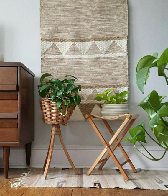 Wood Plant Stand Wicker Plant Stand Planter Vintage Plant 400 x 300