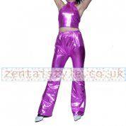 Purple Shiny Metallic Catsuit