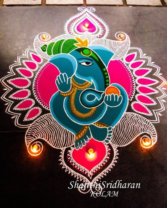 Pinterest also best ganesh rangoli images rh
