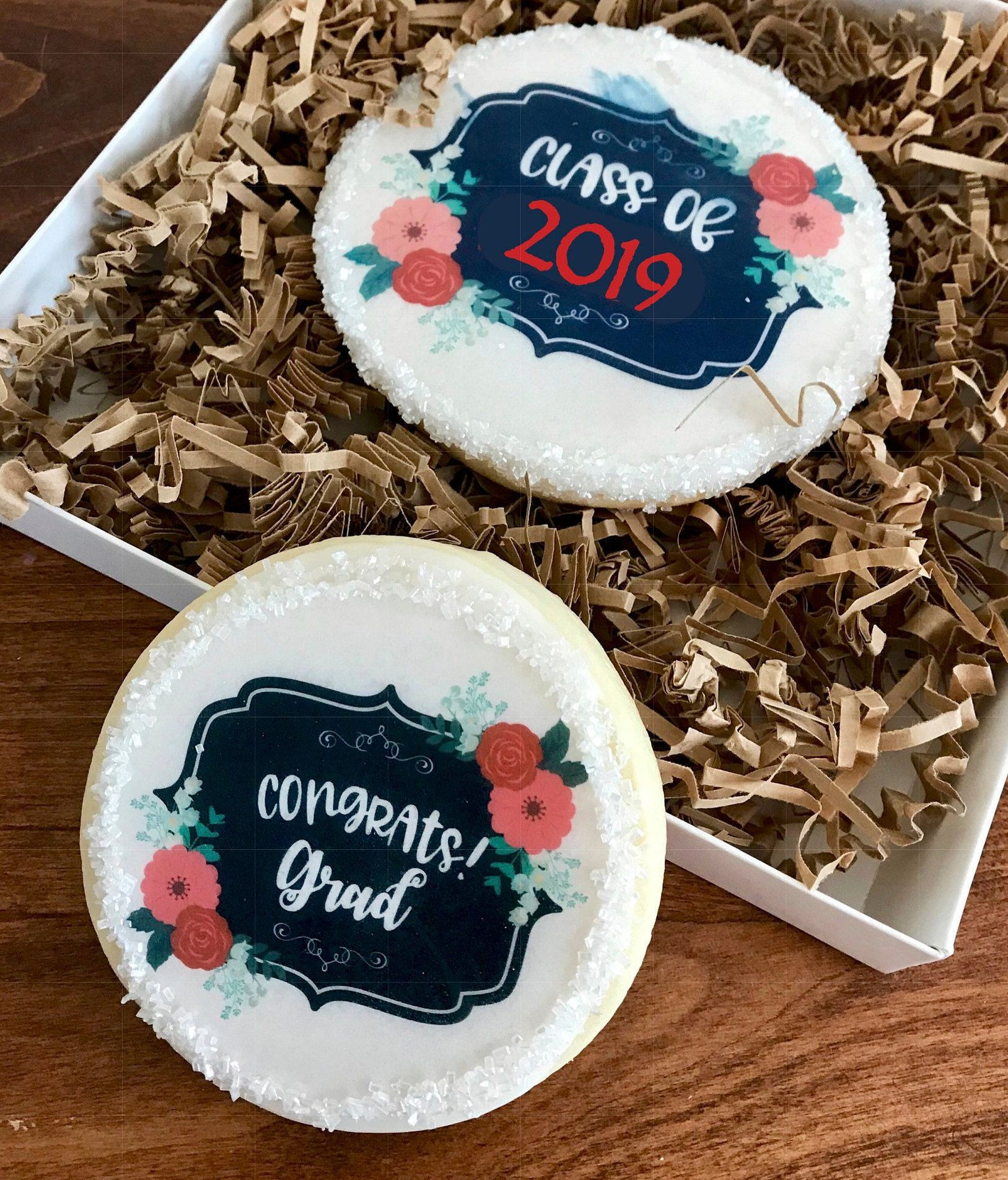 Edible 2019 Graduation Cookie and Cupcake Toppers ...