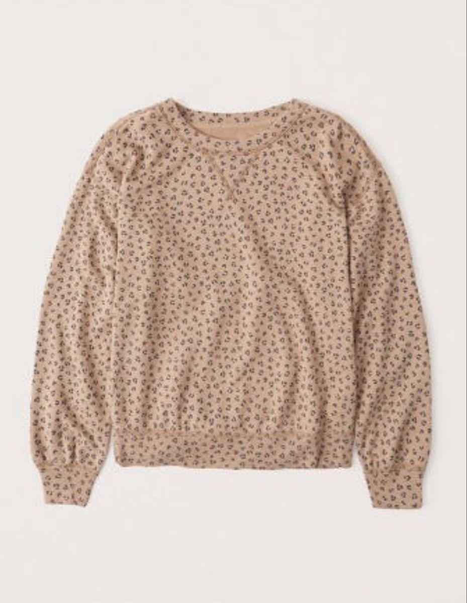 Leopard Print Crew Neck Sweater Crewneck Sweatshirt Women Fall Sweatshirt Crew Neck Sweatshirt [ 1200 x 929 Pixel ]