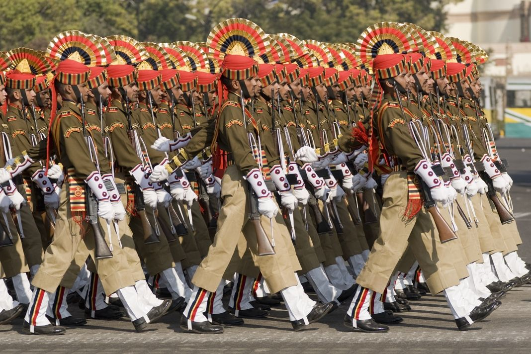 Photo of a troop marching