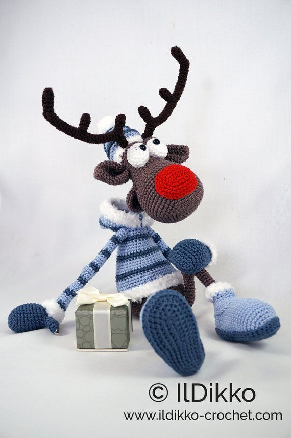 Amigurumi Pattern - Rudolf the Reindeer XL - English Version #amigurumipatterns