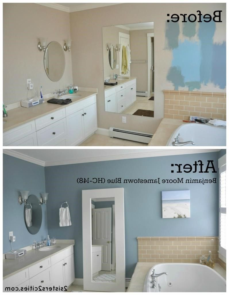 Blue And Beige Bathroom Ideas Small Bathroom Colors Blue