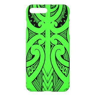 be9ae7458 Ta Moko traditional Maori tattoo design koru shape iPhone 8 Plus/7 Plus Case