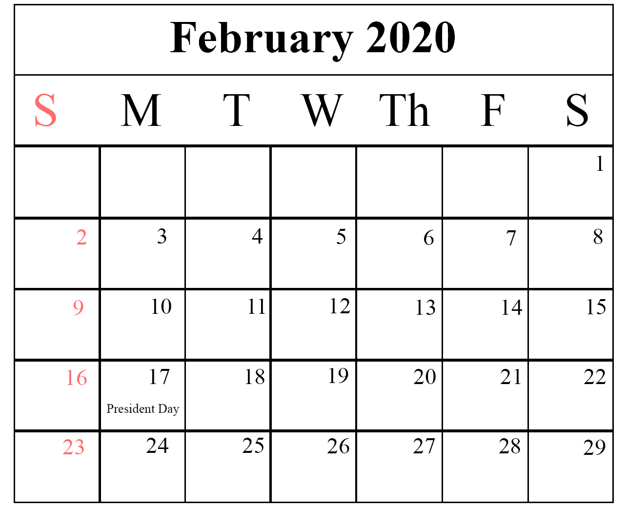 February 2020 Calendar For Workouts How To Schedule Your Month With February 2020 Printable Calendar
