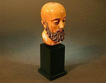 Antique Ivory santos Spanish head carving