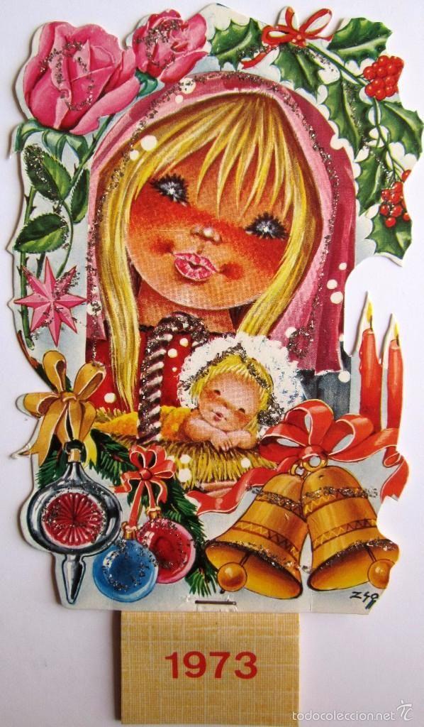 Calendario 1973.Calendario 1973 Navidad 18x9 5cm Calendario Troquelado