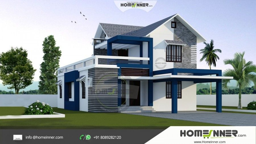 1500 Sq Ft Budget Small House Elevation Photos Kerala House Design Small House Elevation Design Wooden House Design