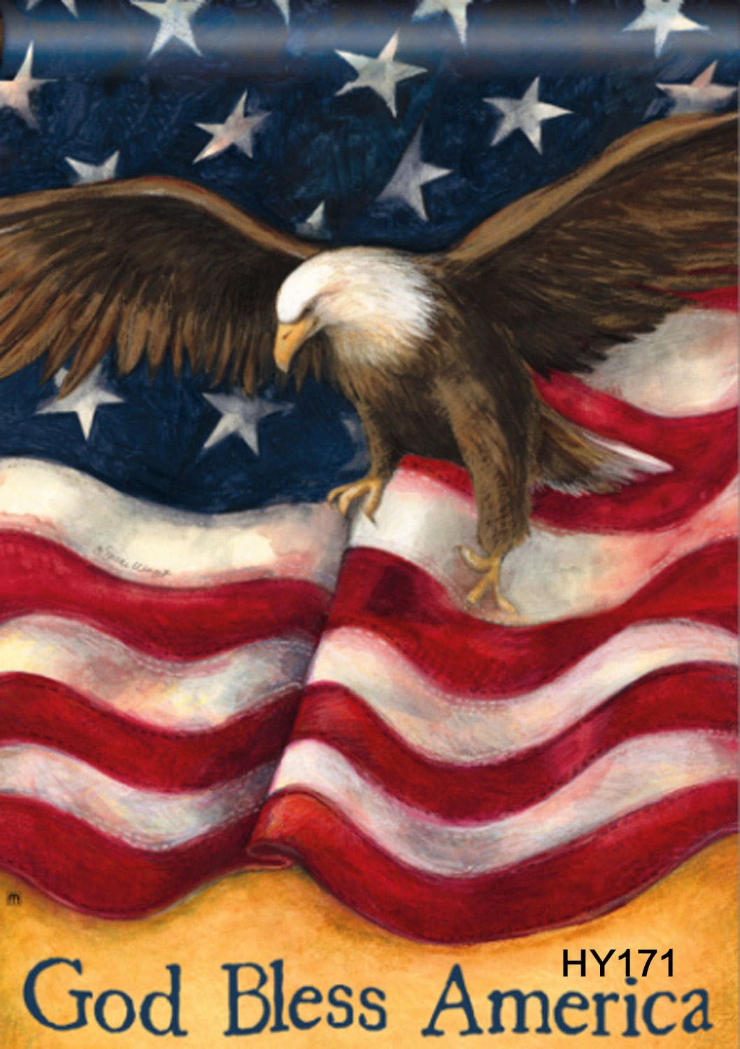 1199 28x40 God Bless America Decorative Garden Flag Eagle Yard