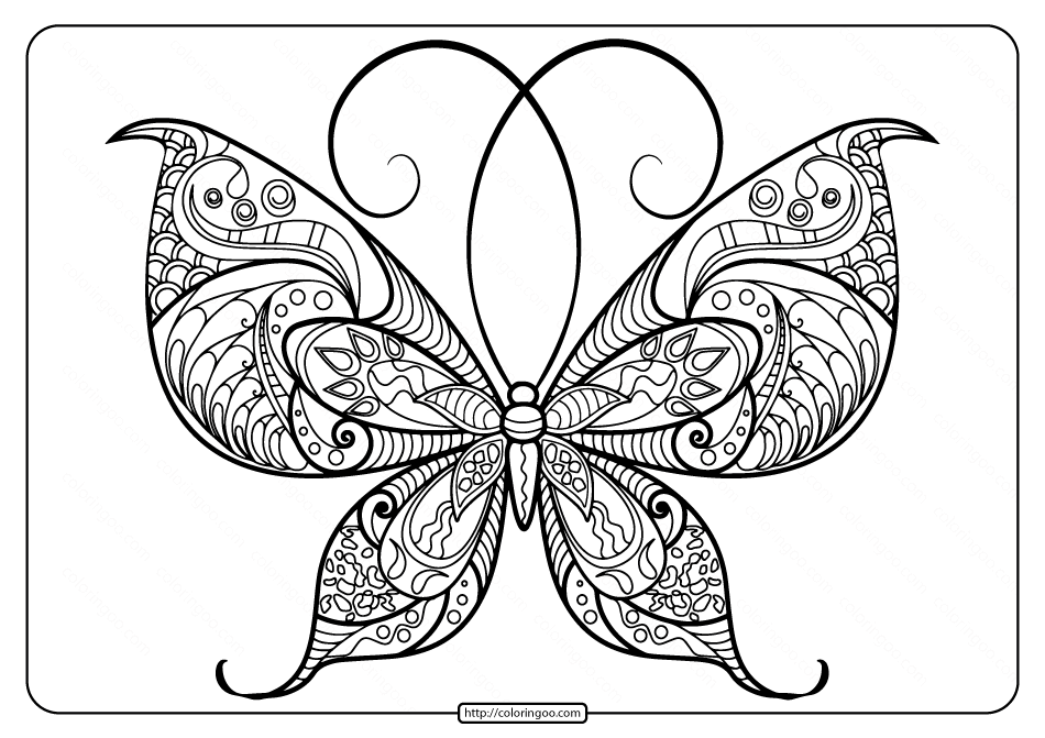 Printable Butterfly Mandala Pdf Coloring Pages 48 Butterfly Mandala Butterfly Printable Coloring Pages