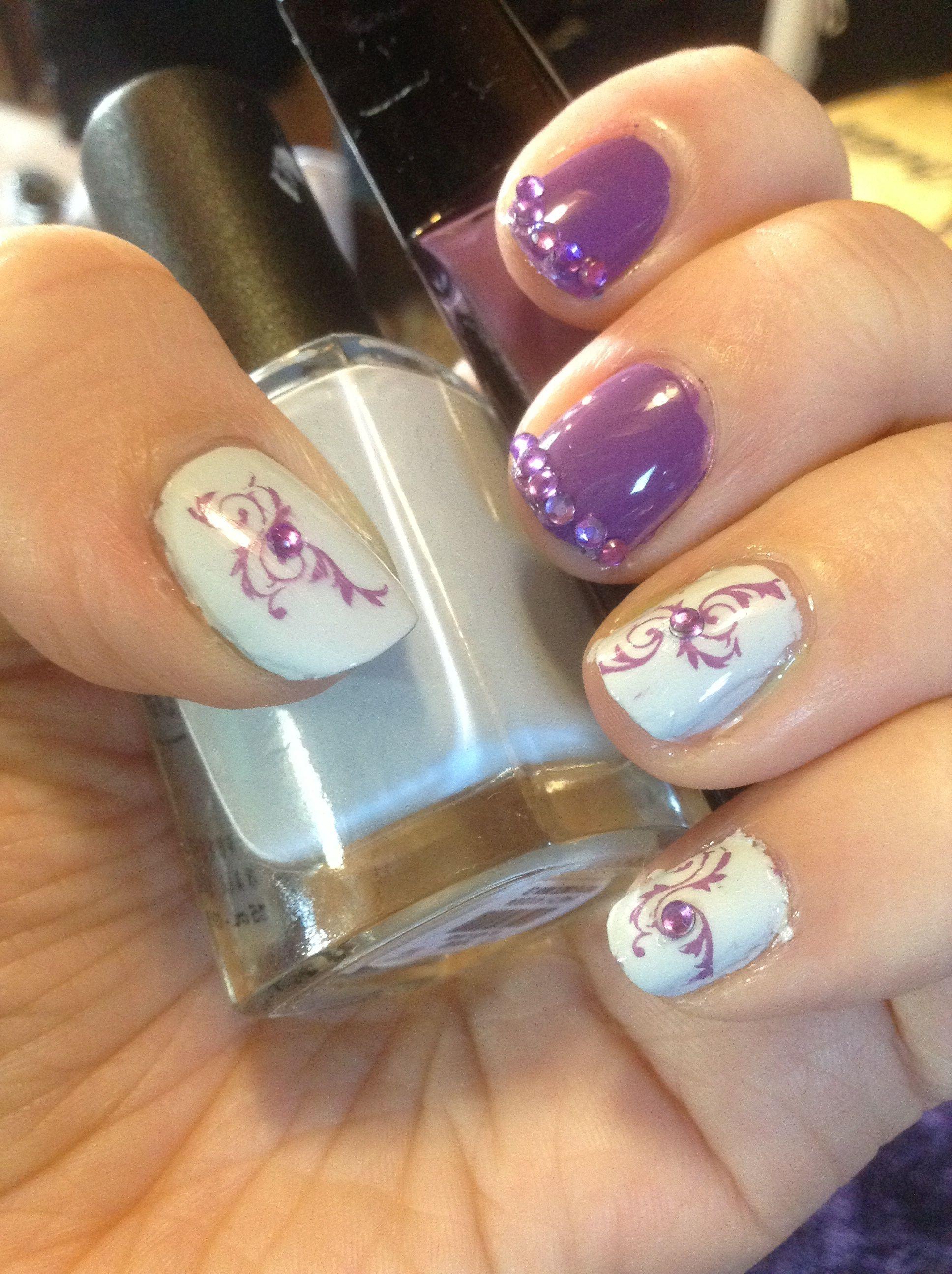 Purple n grey