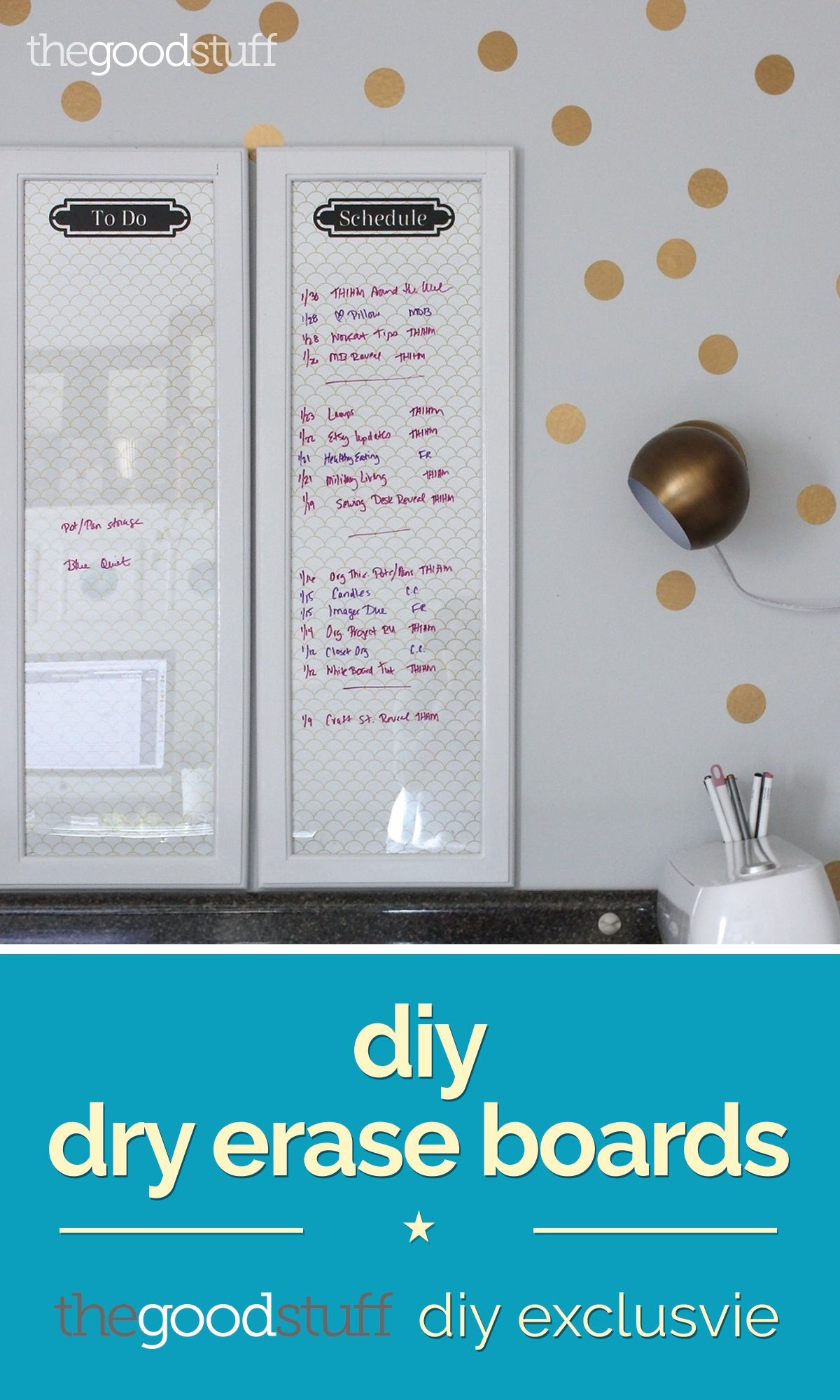 Dry Erase Boards from Old Frames (DIY Exclusive   Erase board, Board ...