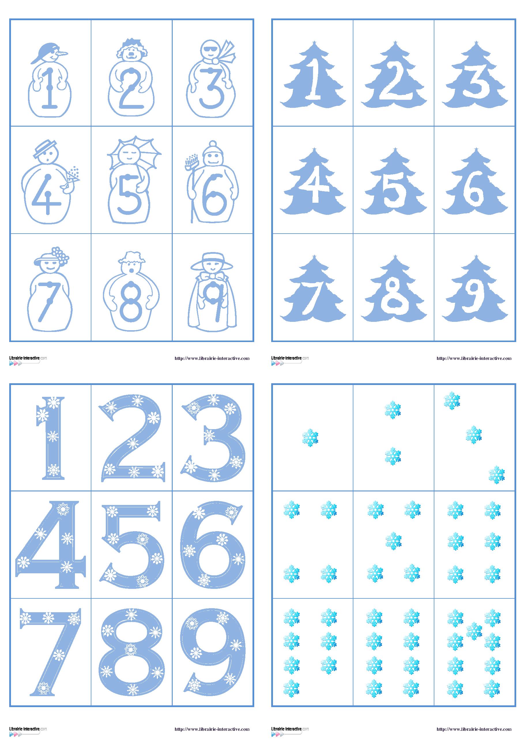Plusieurs jeux de cartes sur le th me de l 39 hiver pour jouer au memory ou la bataille avec les - Activite hiver maternelle ...