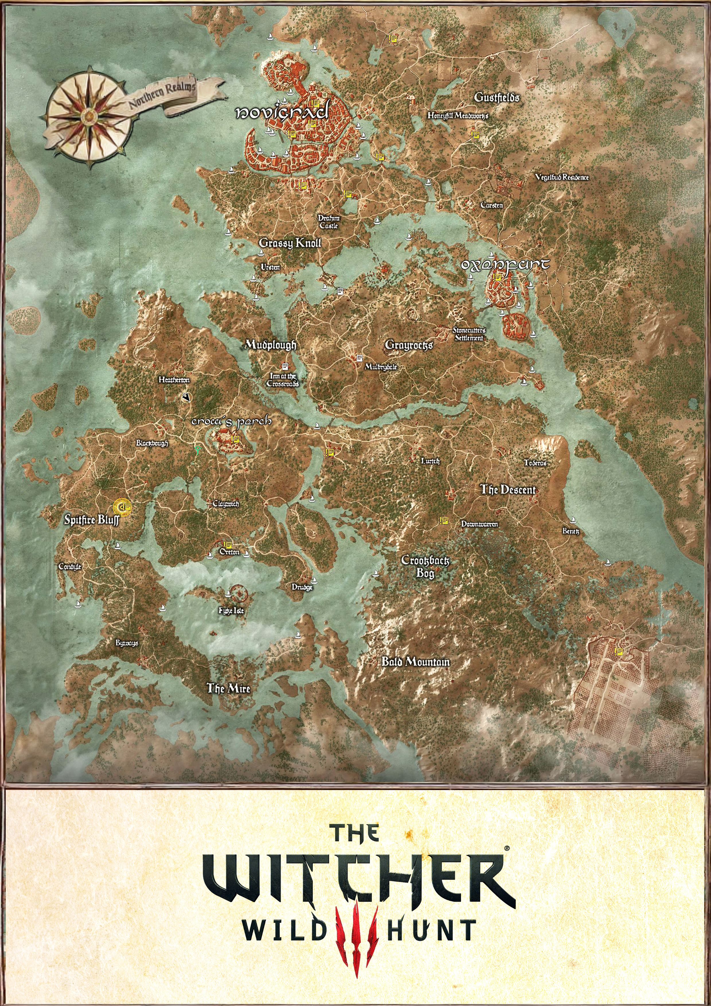 Witcher 3 The Wild Hunt Map of Velen I couldn 39 t find a High quality ma
