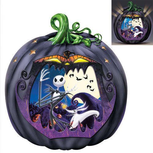 Tim Burton Disney The Nightmare Before Christmas Illuminated Pumpkin