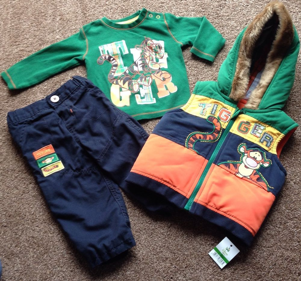 Baby Boy Disney Tigger Three Piece Winter Outfits Size 9 12 Months