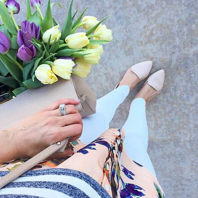 Spring Fever  Flats are only $15 find the details here @liketoknow.it www.liketk.it/Y4X6 #liketkit #ootd #tulips #anthropologie