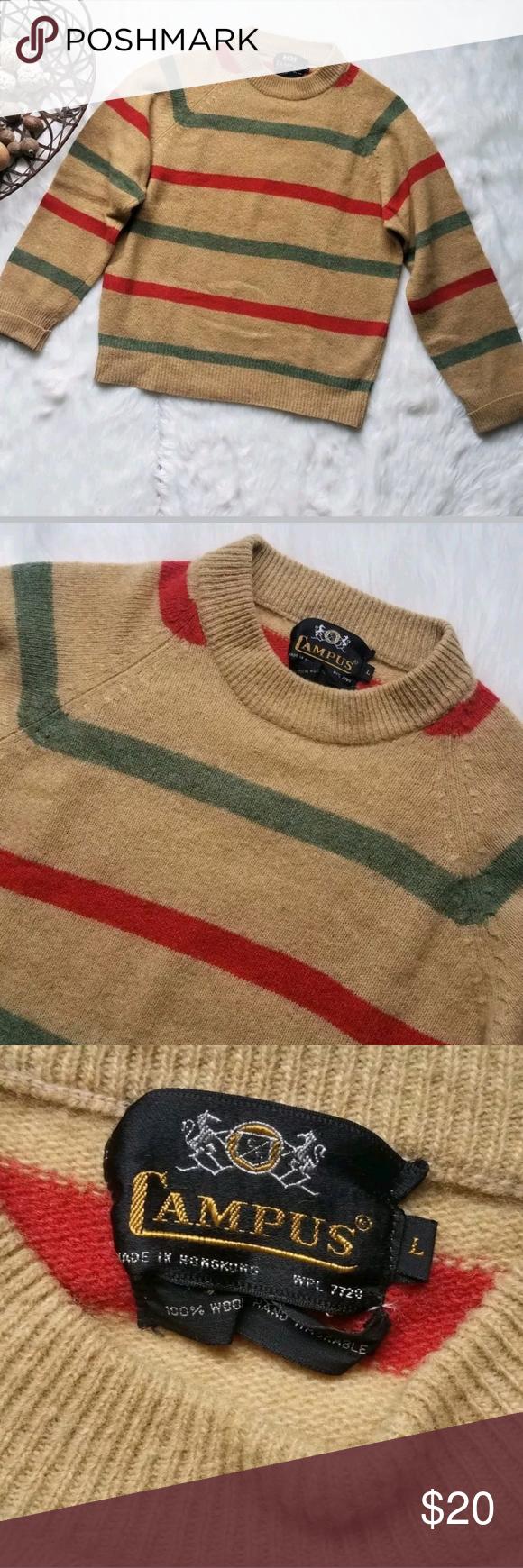4c05e6e160c635 Vintage Campus multicolor striped sweater Vintage Campus multicolor striped