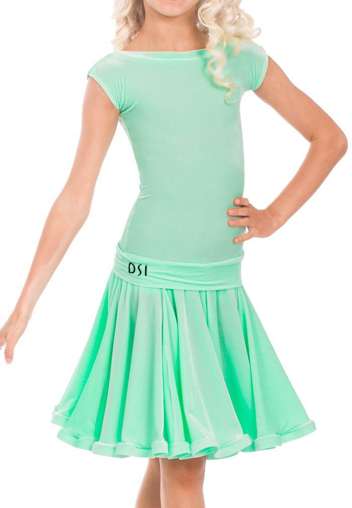 bfbe93add DSI Kayleigh Juvenile Ballroom Dress 1088J | Dancesport Fashion @  DanceShopper.com