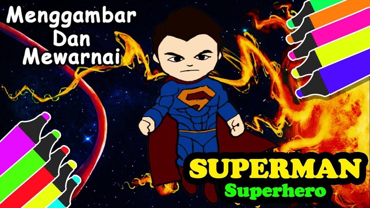 Gambar SUPERMAN Mewarnai Untuk Anak Dengan Gambar